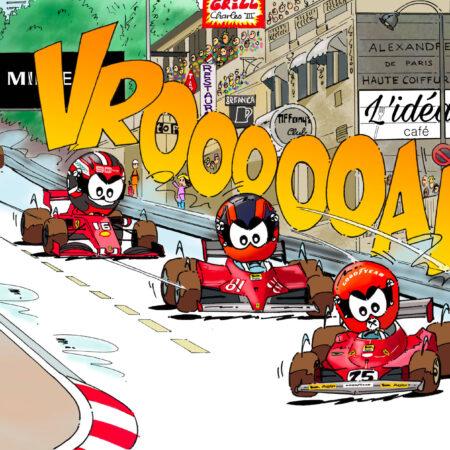 "VROOAART ""3 Ferrari à Monaco"""