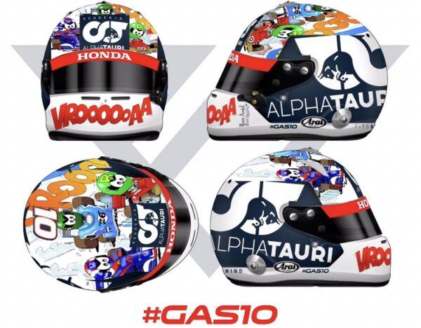 Art Casques Pierre Gasly